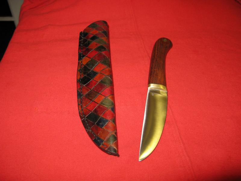 Utility knife & harlequin-pattern sheath
